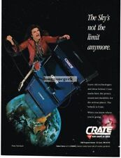 1991 Crate Amplifiers Amps Speakers Robert Sarzo Magazine Ad