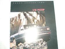 Chevrolet S-10 Pickup brochure 1985