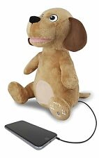 iLive iSB485DOGBR Bluetooth Buddy Dog Speaker, Moves to The Music (Brown)