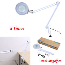 5X Magnifier Beauty Table Lamp Lighting Desktop Magnifying Adjustable 220V UK