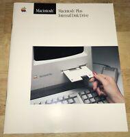 1986 Macintosh Plus Internal 800K Disk Drive MANUAL Mac 1984 128K, 512K Upgrade