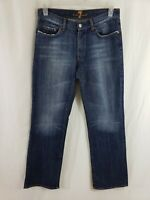 7 for All Mankind A Pocket Womens Denim Blue Jeans Size 31 x 32 Boot Cut Med Wsh