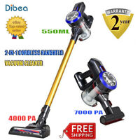 Dibea D18 2-in-1 Cordless Handheld Vacuum Cleaner 4000/9000Pa LED Lights + Brush