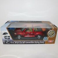 Motor Max 2002 Chrysler PT Cruiser Convertible Red Styling Study 1:18 New in Box