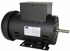 WEG 5 HP Electric Motor for Compressor 56 Frame 3455 RPM 1 Phase 230 VAC
