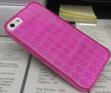 iPhone SE iPhone 5 5S Gel Case - Argyle Pattern - Hot Pink