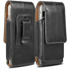Leather Extra Large Belt Clip Pouch Case Card Holster for Universal Cell Phone
