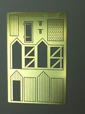 NEW  N Scale Outhouse Model  USA  PE Brass AMP OUTHOUSE SET#2   w/exterior frame