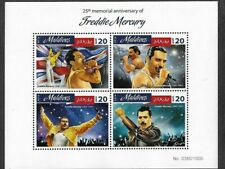 Freddie Mercury-Queen-Postage stamp sheet limited printing  mnh- new-Rock Music