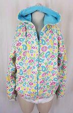Triumvir Hooded Reversible Jersey Knit Sweatshirt Jacket Hoodie Womens L Legio