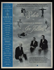 1960 ICE FOLLIES 25th Aniversary Tour - Salute To Shipstads & Johnson VINTAGE AD