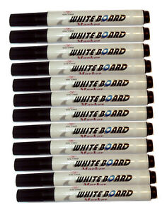 White board whiteboard marker chunky pens dry erase easy wipe round bullet tip