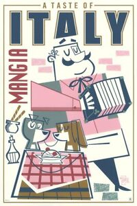 """Lady and The Tramp Taste of Italy Limited Screen Print Art Poster #170 20"""" X 30"""""""