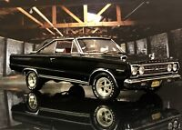 Custom 1:18 Highway 61 COLLECTIBLES Black 1967 Plymouth GTX