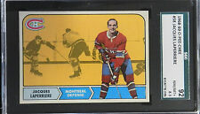 1968 O PEE CHEE HOCKEY OPC #58 JACQUES LAPERRIERE  NM/MT 8.5 +  - SGC 92