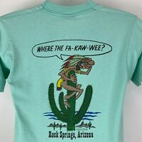 Vintage Rock Springs Arizona Small T Shirt Where the Fa-Kaw-Wee Graphic Tee USA