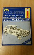 VW POLO & DERBY 1976-1982 HAYNES WORKSHOP MANUAL 335 IN A USED COND FREE P&P
