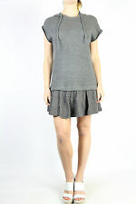 ZARA TRF Grey Hooded Cable Knit Dress Size L (12 best fit)