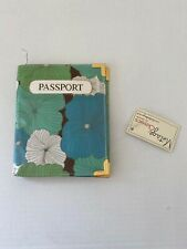 Vintage, Classics by Disaster, Passport Holder, Blue & Green, Floral Pattern