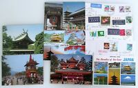 14 x JAPAN Postkarte mit Briefmarken Nippon Postcards with stamps, Asien Asia