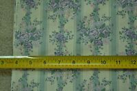 """By-the-Half-Yard, 44"""" Wide, Vintage Lavender on Green & Cream Cotton, M3765"""