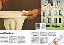 PUBLICITE ADVERTISING  1980    RUBSON  étainchéité  ( 2 pages)