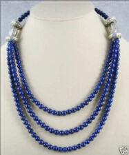 Beautiful! Tibet silver 6mm Lapis Lazuli Bead Necklace