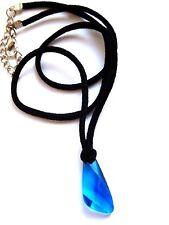 h2o kette staffel 3. blau swarovski kristall anhänger. h20 just add water locket