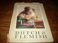 1939 1st Edition World's Masterpieces Dutch Flemish DJ Dust Jacket Nice Pages