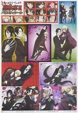 sticker promo Black Butler Kuroshitsuji anime Sebastian Michaelis Ciel Claude