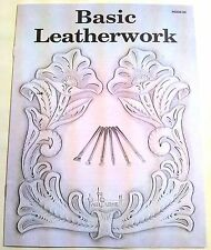 BASIC LEATHERWORK Beginning Leather Carving Tooling Book 6008-00 Tandy Books