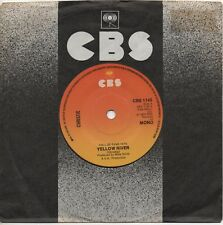 CHRISTIE yellow river*iron horse 1970's UK CBS REISSUE 45