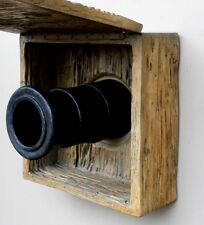 Tall English or Pirate Ship Wall Cannon w Faux Wood Cover - The Kings Bay