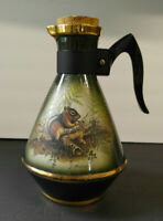 James Beam Decanter with Handle 1976 Lockhart Lithograph Squirrel