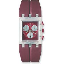 Swatch Square Chrono Red Round SUEK401