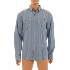 HUGO BOSS Men's Striped Long Sleeve Regular Collar Casual Shirts & Tops