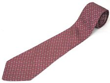 HERMES Paris Nautical Anchor Tie - Gray Anchors on a Rosy Pink Background