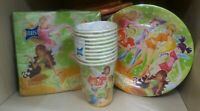 Set tovaglioli piatti bicchieri di carta Winx per feste party compleanni bambine