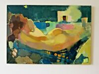 Nude abstract woman Original artwork Author`s style oil painting by E. Lozovoy