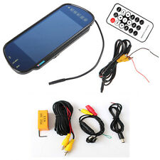"7"" Bluetooth MP5 Car Rearview Mirror Monitor+360° Rotatable Auto Backup Camera"