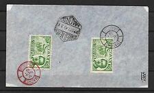 España. Sobre con dos sellos del Conde de San Luis  y tres tipos de matasellos