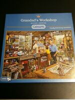 gibsons 1000 piece jigsaw puzzle GRANDADS WORKSHOP pre owned complete