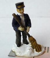 Grandeur Noel Train Station Sweeper Victorian Christmas Village  2001 Miniature