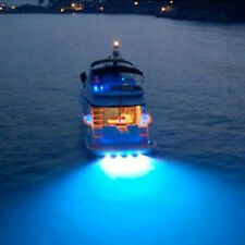 Blue 6 LED UnderWater Marine Drain Plug LED Light for Boat Diving/Fishing Wakebo