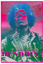 1960's Rock: Jimi Hendrix at Toronto Canada Concert Poster 1969 2nd Printing