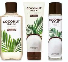 Bath & Body Works COCONUT PALM Body Cream Gel Mist SET