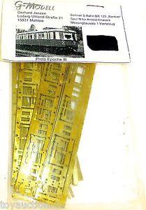 Br 125 Banker Ep3 S BAHN Brass Kit G Model Mahlow 1:160 N Å