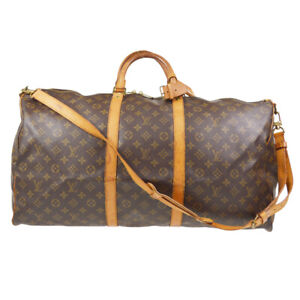LOUIS VUITTON KEEPALL 60 BANDOULIERE TRAVEL BAG MONOGRAM M41412 gv 61094
