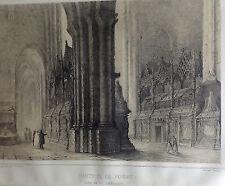 CATALUÑA, MONASTERIO DE POBLET. Parcerisa 1839-1865