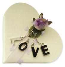 10 Scatoline cuore scatola per confezionare bomboniera portaconfetti matrimonio